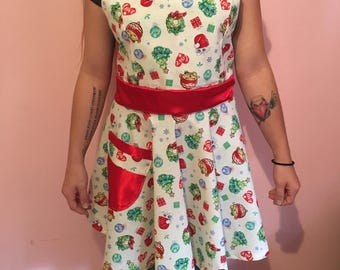 Holiday Shopkins retro apron