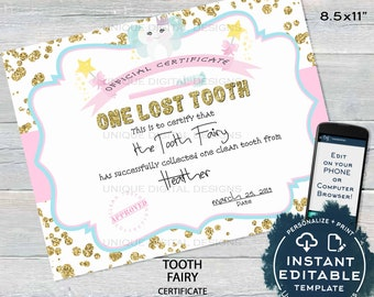 Tooth Fairy Letter Etsy