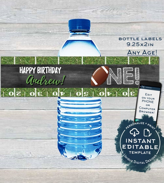 Editable Football Welcome Sign Any Age Sports First Birthday Sign Decoration 1st Football Birthday Printable Template INSTANT ACCESS UBFT