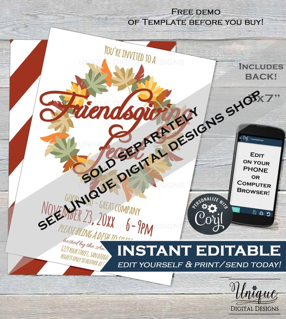 Bake Sale Flyer Template Editable Christmas Invitation Etsy