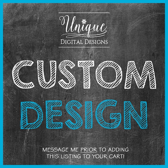 Add On Custom Design Custom Invitation Custom Invitation Etsy