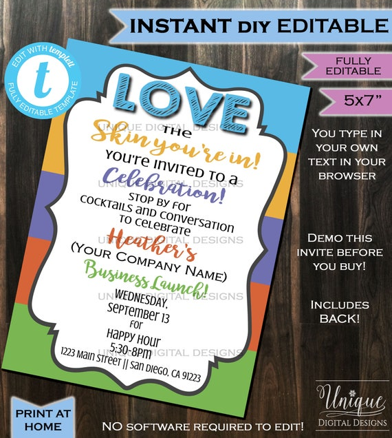 Rodan Fields Invitation Business Launch Party Bbl Invite Rf Etsy