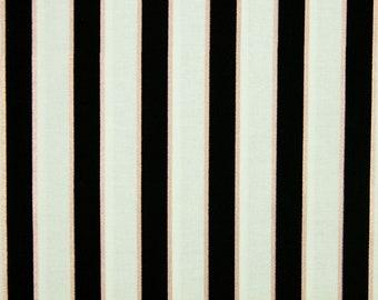 Cream Cotton Fabric Please Metallic Stripe Fabric Yes Please Home Dec Riley Blake Bronze My Mind/'s Eye Yes Quilting Fabric