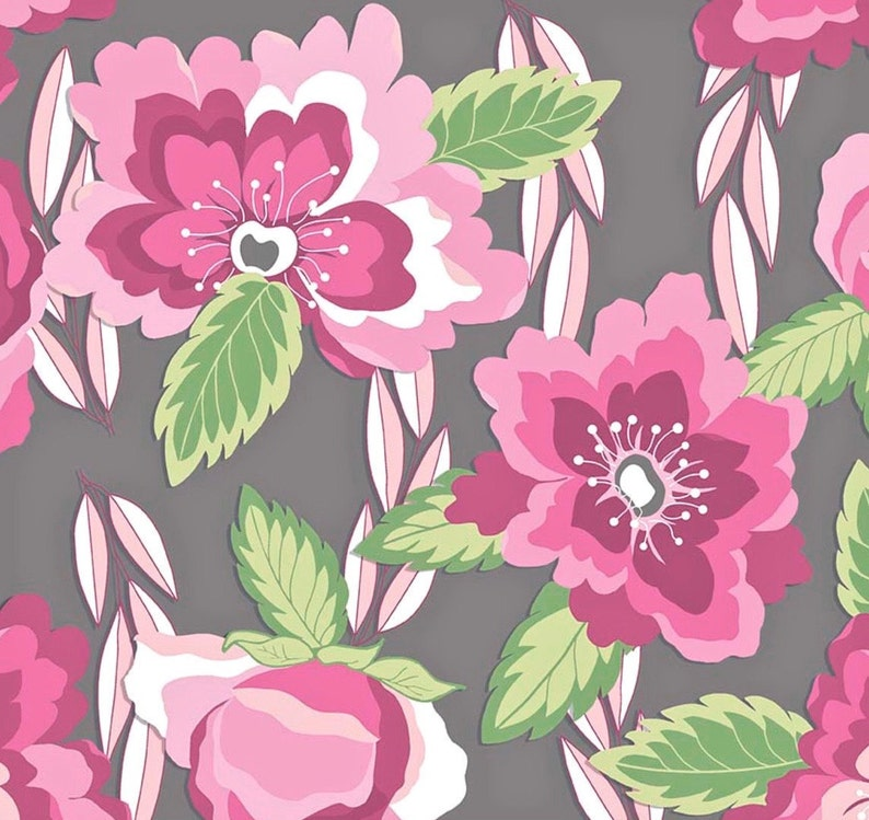 512d1272206 Jersey KNIT Fabric by the Yard Floral KNIT Fabric Cotton | Etsy