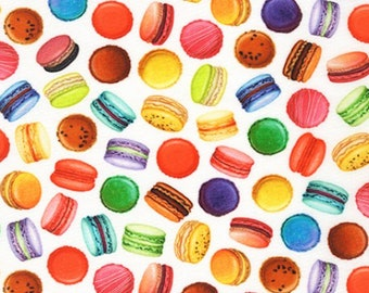 Sweet Macaroons from Sweet Tooth - 100% Quilting Cotton Fabric - Robert Kaufman Fabrics - Apron Fabric, Food Fabric, Choose Your Cut C18