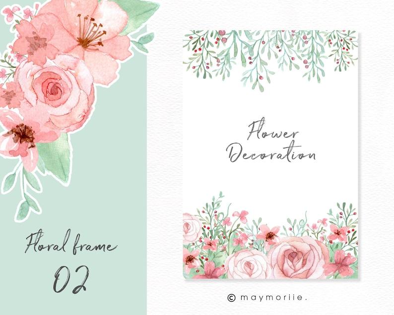 Flower frame for wedding invitation or greeting card image 0