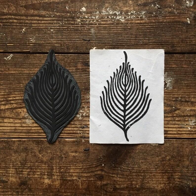Skeleton Leaf Print  Indian Handmade Paper  Art Print  Ethical Gift  Lino Woodcut Print