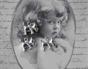 3 beautiful pendants dogs plain silver metal