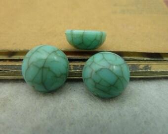 resin cabochon 12mm Imitation Turquoise
