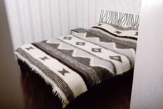 Wool Blanket Throw Blanket Warm Blanket Handmade Blanket | Etsy
