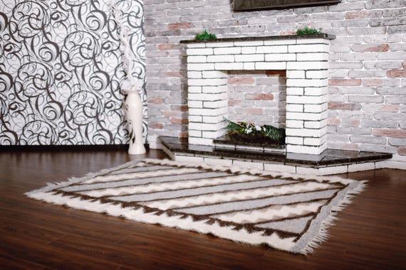 Wool Rug Floor Rugs Modern Design Rugs Living Room Rug Wool Area Rug Wool  Rugs Wool Carpet Hand Woven Rug Housewarming Gift Bedroom Rug