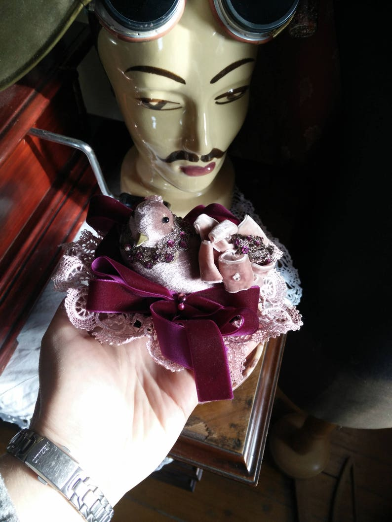 ruffles and steam rose bird Steampunk fascinator supernice for your next convention airship flight or your next party