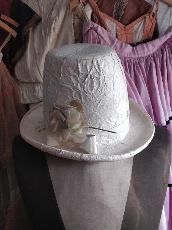 Opera hat Boudoir style Theater costume Antique Theater hat