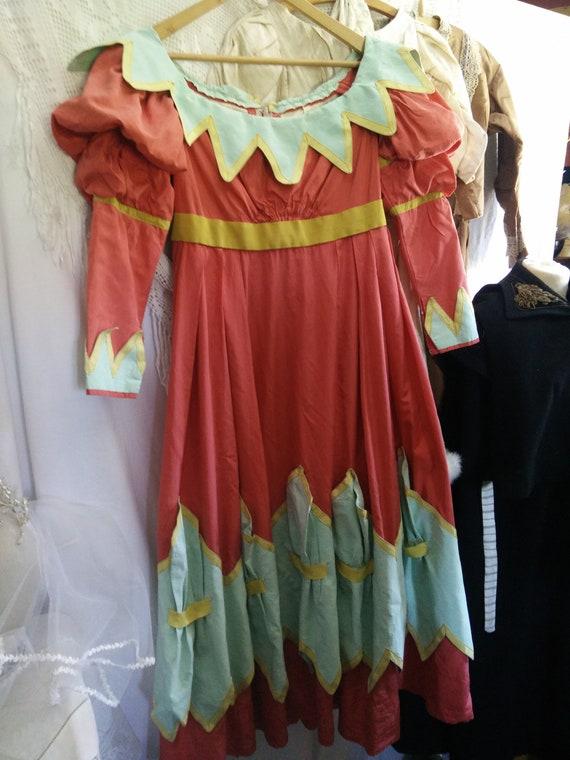 Vintage theater dress, Pierrot dress,harlequin dre