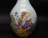 Unique Chinese Antique Beautiful Painting Porcelain Vase quot QianLong quot Mark