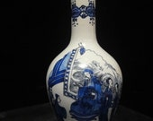 Fine Chinese Qing Dynasty Antique Blue and White Glazes Porcelain Vase Marked quot KangXi quot