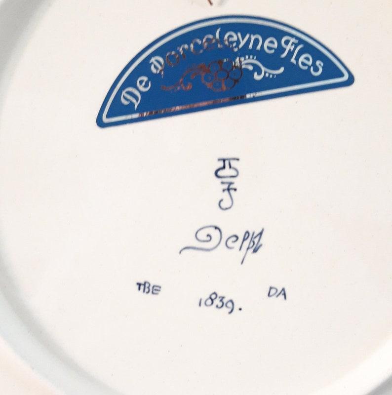 handpainted Holland 1981 Vintage Delft polychrome plate Delft de porceleyne fles The Netherlands