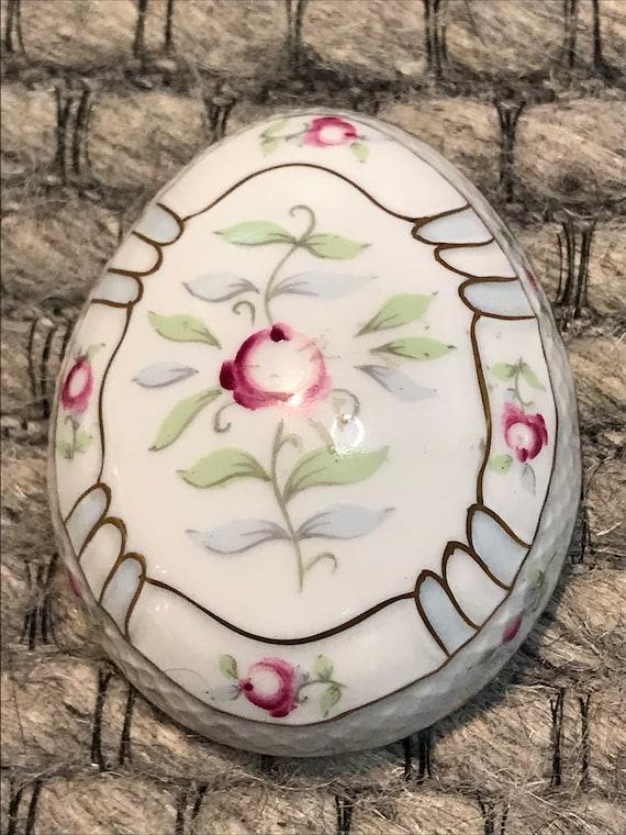 Vintage Hollohaza Hungarian Porcelain Egg Shaped … - image 10