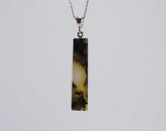 Amber pendant, black, mixed natural amber pendant 3665