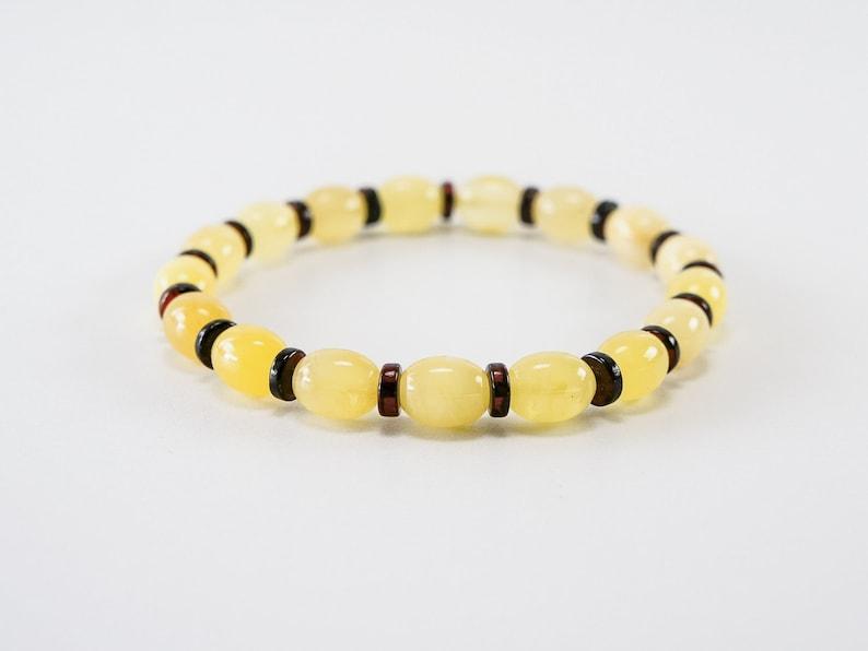 Amber bracelet lemon honey matte elliptical plum and image 0