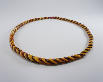 Amber necklace, mixed, leaf natural amber bead necklace Certificate 3692