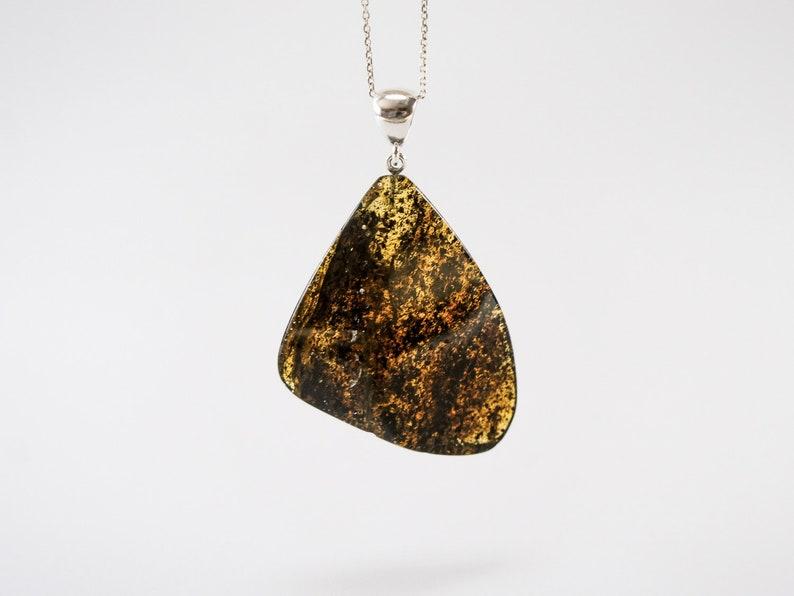 Amber pendant leaf rear unique large black mixed natural image 0