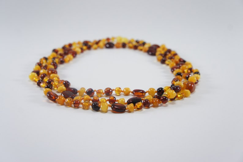 Amber necklace bracelet mixed freehand natural amber bead image 0