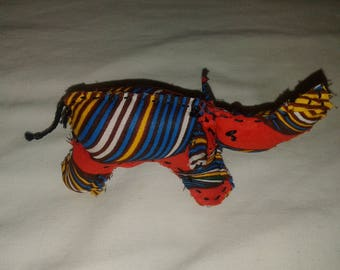 Little Red Kitenge Elephant