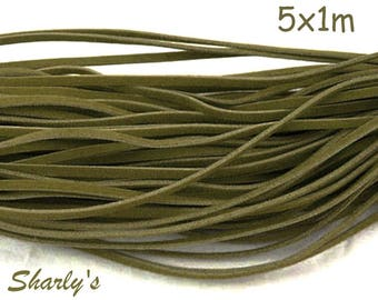 5 1 m of wool khaki suede cord