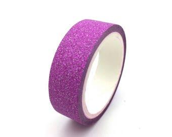 x1 rouleau de 4m de masking tape washi tape Glitter Fushia: DM0038