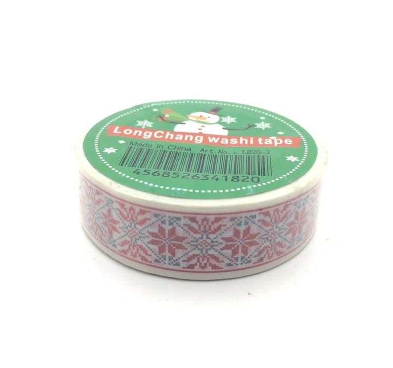 x1 rouleau de 10m de masking tape washi tape No\u00ebl DM0046