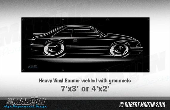 Fox Body Mustang LX Hatch Art BIG BANNER 1987 1988 1989 1990 1991 1992 1993 Ford 5.0L