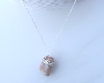 Sunstone Pendant Necklace