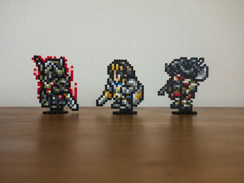 Final Fantasy XIV pixel art keychains, pins, magnets or platforms