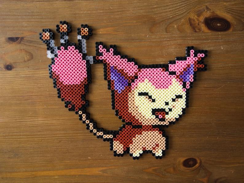 Skitty Pokemon wall art | pixel art | perler bead art