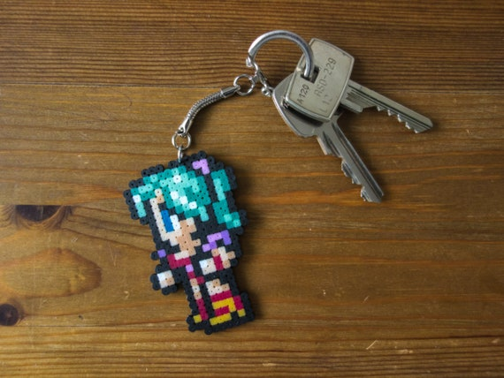 Any Final Fantasy character keychain, pin, brooch, magnet or on platform |  pixel art | perler bead art