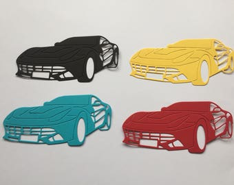Sports Car Die Cuts x 12 Ideal birthday card toppers