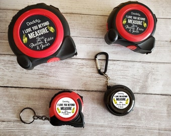 Personalized Tape Measure, Father's Day Gift, Dad's Gift, Grandfather's gift, Tool, Photo Tape Measure