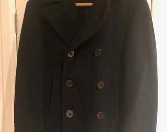 Genuine Vintage US NAVY 1950's Pea Coat - Medium Size