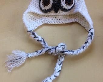 Snowy White Owl Cap