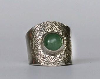 Mandala Aventurine ring
