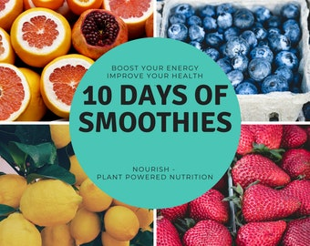 10 Days of Smoothies Recipe Book, instant download