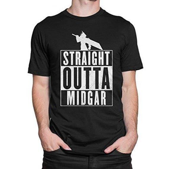 Red XII ff7 T-shirt men/'s Anime GAMING GEEK style Nerd T-shirts
