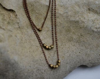 Multi-layered Metal Necklace