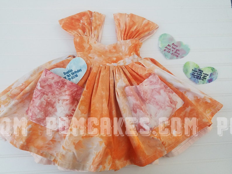 two dresses in one Secret Message Flower Girl Dress Toddler Dress Blush Flower Girl Dress 18m 24m Girls Reversible dress with pockets