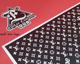 LV Sup Logo Pattern Stencil