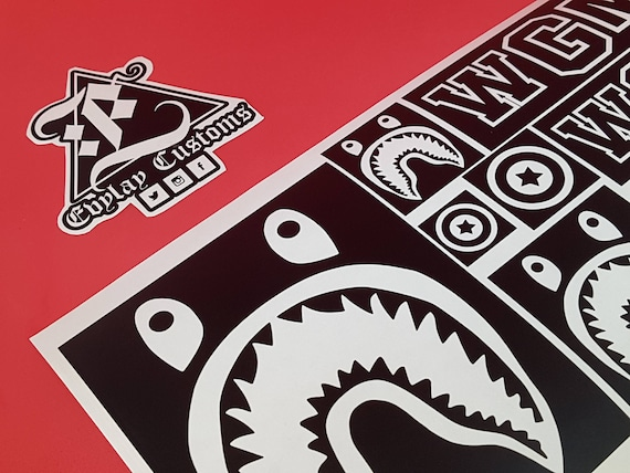 Bape Shark Logo Stencil