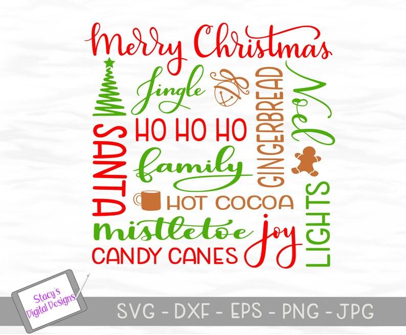 Christmas Subway Art.Christmas Svg Christmas Subway Art Cut File For Cricut And Silhouette