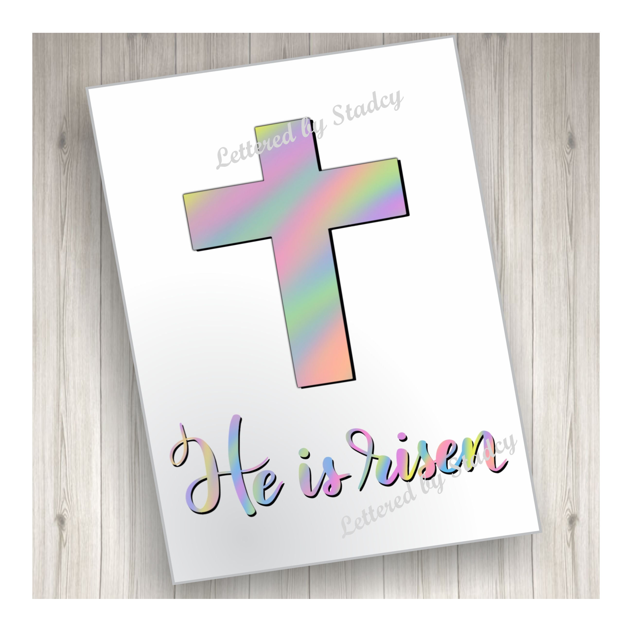 He Is Risen Card Easter Card Downloadable Card Printable Etsy