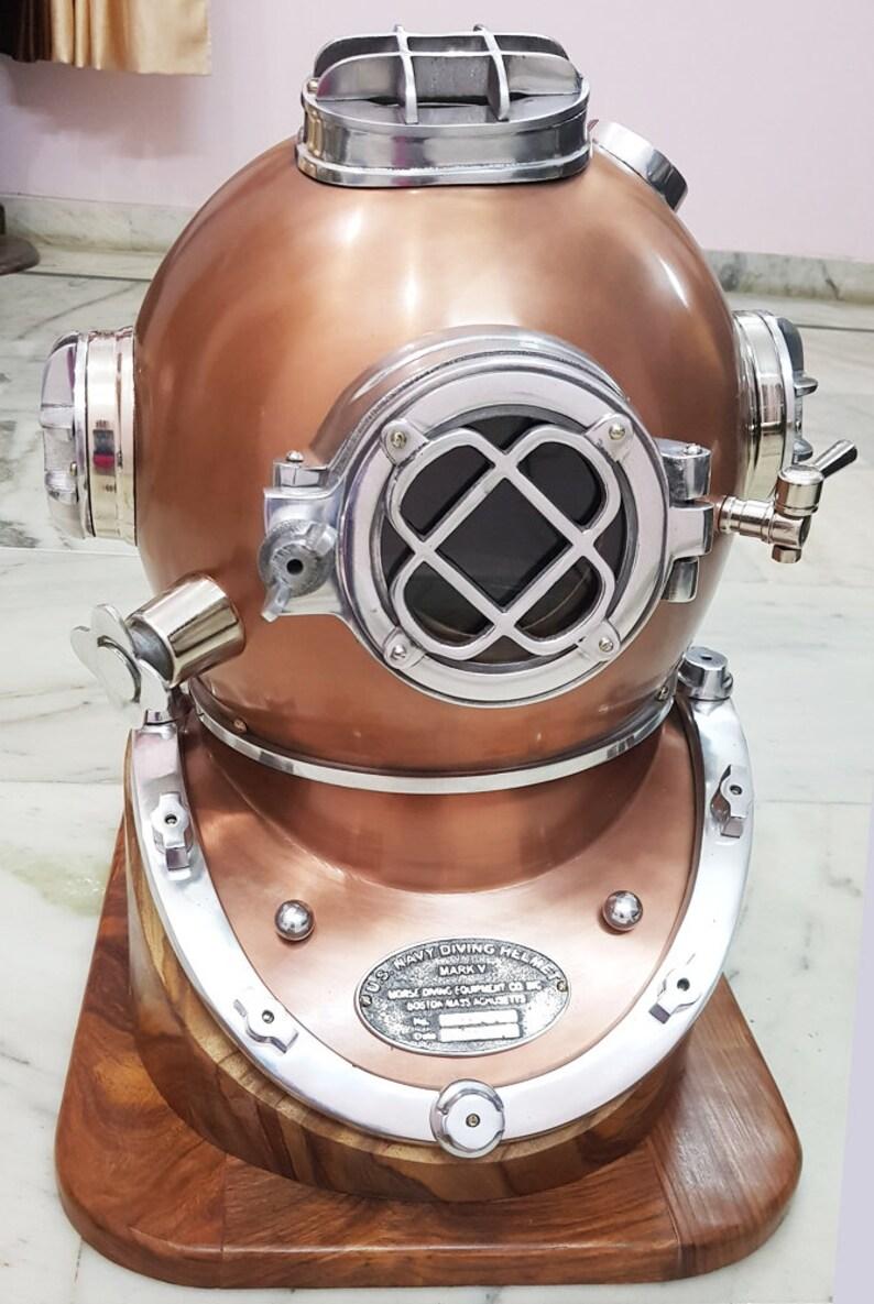 navy mini diving helmet deep sea divers helmet copper /& brass 6 inch Mark v u.s